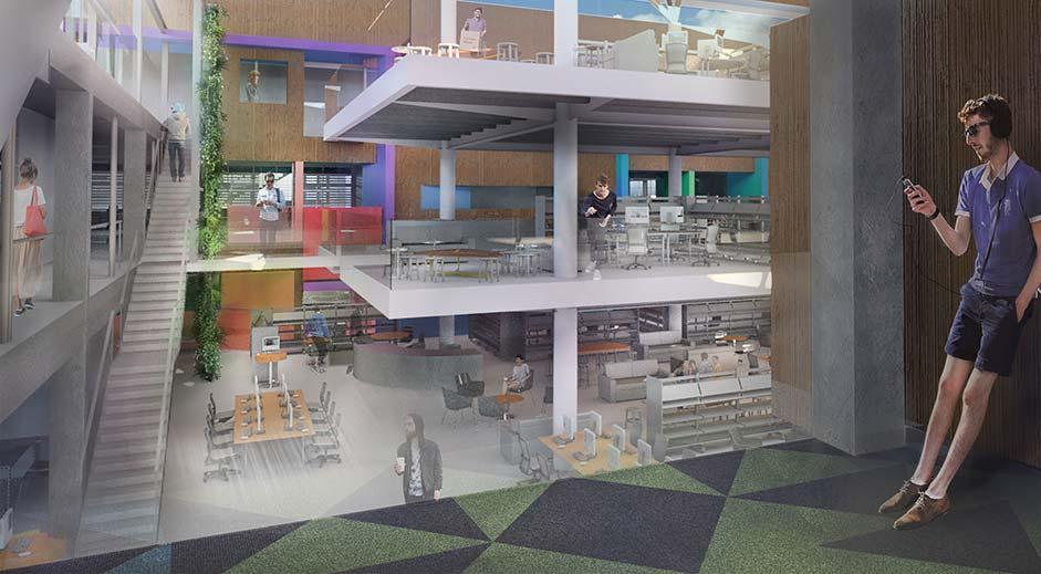 Structus Consulting Auckland case study Unitec hub interior