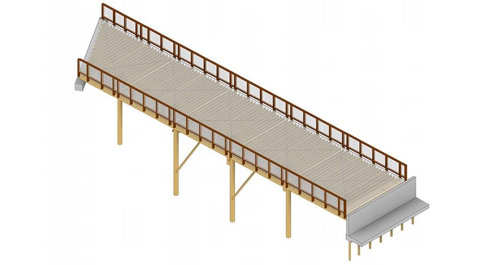 Structus Consulting - case study Royal Road Develeopment Pedestrian Footbridge